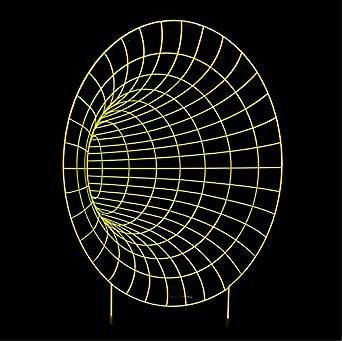 3D 7 Colores Cambiar Tiempo Abstracto Túnel Estéreo Visión ...