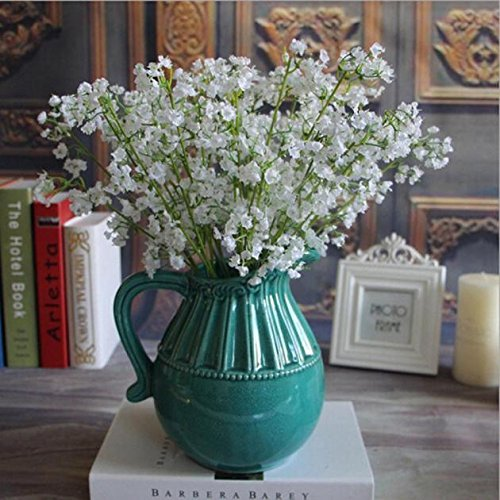 Vibola® Elegant Artificial Gypsophila Flower baby's breath Gypsophila White Home Room Office Decoration Wedding Party Decor Flor Artificial