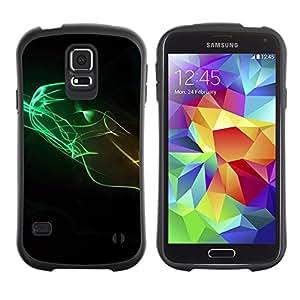 Paccase / Suave TPU GEL Caso Carcasa de Protección Funda para - Design Minimalist Colors - Samsung Galaxy S5 SM-G900