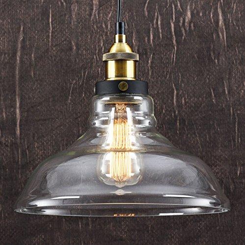 LOMT8482 Deckenleuchte Vintage Retro Glas Lampe Industrie Pendelleuchte Amazonde Beleuchtung