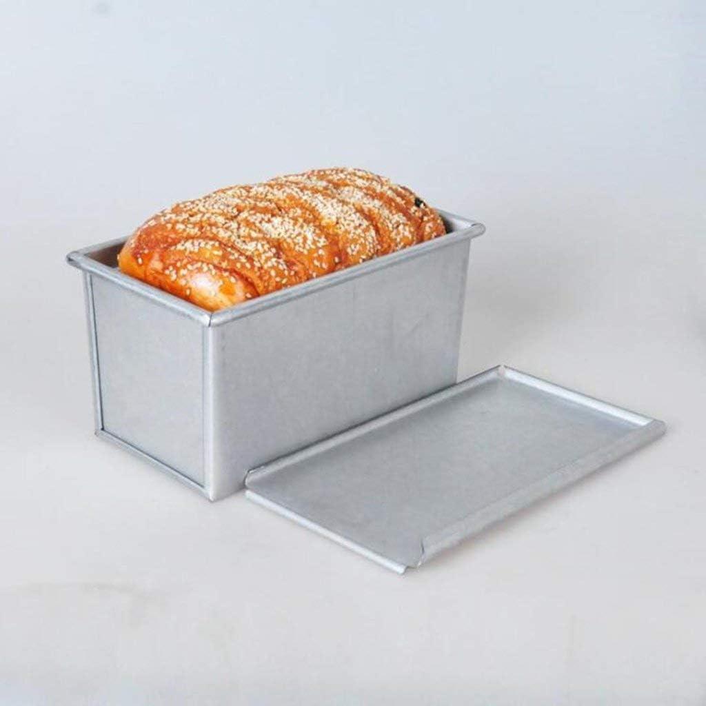 Vapor Pot Molde de pan de acero al carbono con tapa Utensilios de cocina revestimiento antiadherente y de liberaci/ón r/ápida Molde de pan rectangular Molde for pan tostado 9 cm Negro 750 g