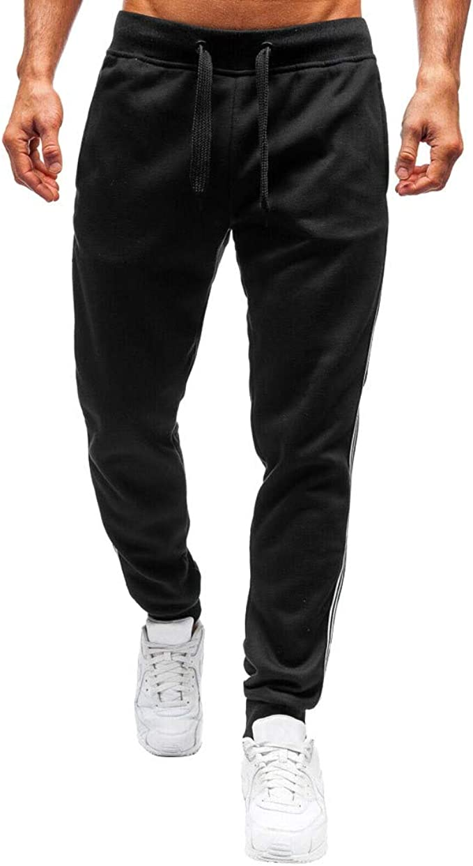 Amazon Com Wuai Men Fashion Jogger Athletic Pants Classic Gym Sport Pants Bodybuilding Workout Running Slim Fit Sweatpants Clothing