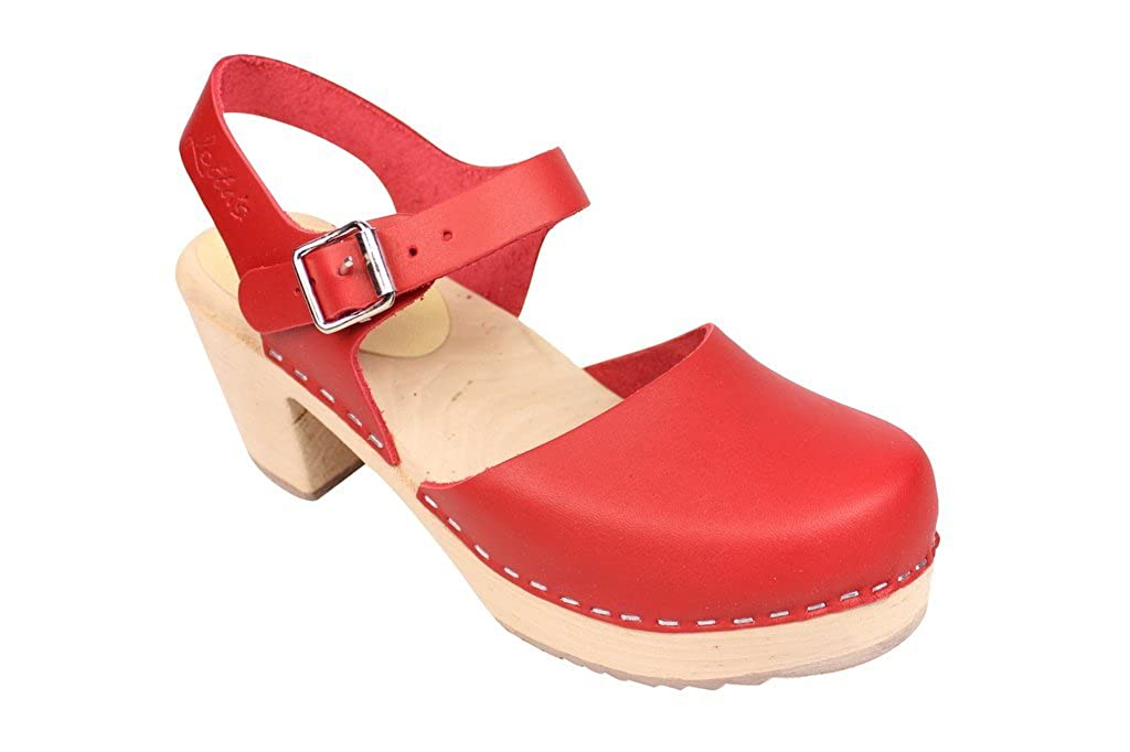 9744bede34e Lotta From Stockholm : Highwood Mary Jane Style in Red Leather