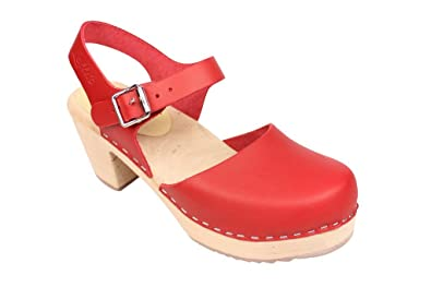 734bd42c101ce Lotta From Stockholm : Highwood Mary Jane Style in Red Leather