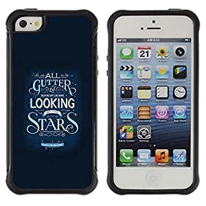 """Pulsar iFace Series Tpu silicona Carcasa Funda Case para Apple iPhone SE / iPhone 5 / iPhone 5S , Estrellas Inspirar Texto motivación Azul"""""""