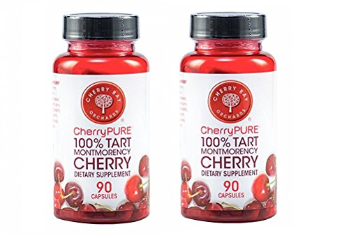 CherryPURE® 100% Tart Montmorency Cherry Antioxidant Supplement Capsules - 180 count ~ 6 Month Supply ()