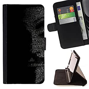 KingStore / Leather Etui en cuir / Samsung Galaxy S3 MINI 8190 / MENSAJE ANÓNIMO