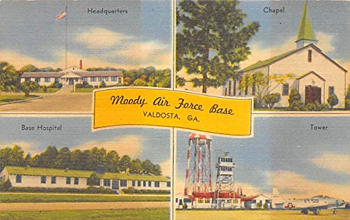Military Camps Post Card Moody Air Force Bae Valdosta, Georgia, USA Unused