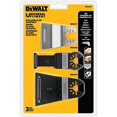 DEWALT DWA4231 3pc Universal Oscillating Blade Assortment
