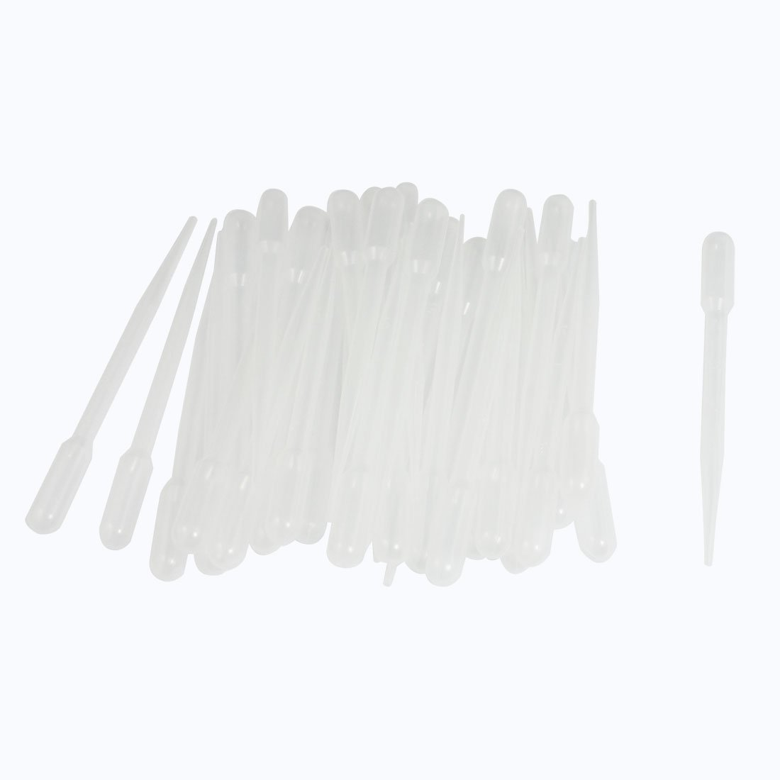 Bluelans® 100 Pcs Clear White Plastic Liquid Dropper Pasteur Pipettes Graduated 0.2ml