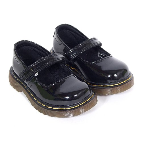 Dr Martens Chaussures-- Tully-Mary Jane Chaussures de Bar (Noir verni)