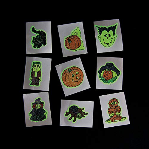 Fun Express Glow-in-The-Dark Halloween Tattoos (6 Dozen) - Bulk