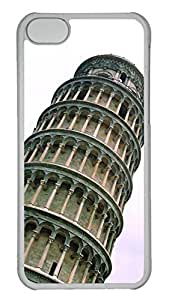 Customized iphone 5C PC Transparent Case - The Leaning Tower Of Pisa Cover
