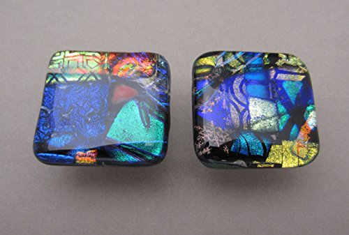 set-of-2-handcrafted-fused-dichroic-glass-cabinet-knobs-drawer-pulls-satin-nickel-finish-ready-to-sh