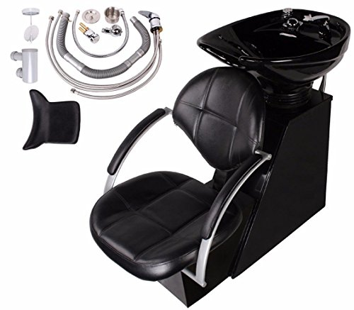 TMS® Ceramic Backwash Shampoo Bowl Sink Unit Chair Station Spa Beauty Salon Equipment from TMS