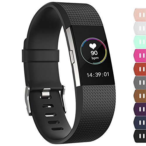 iGK For Fitbit Charge 2 Bands, Adjustable Replacement Bands with Metal Clasp...