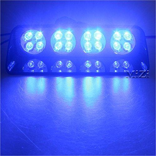 48/W 16LED blau Auto LKW-Dash Strobe Flash Notfall Police ACHTUNG Windschutzscheibe LED Strobe Light Auto Flash Signal Notfall Feuerwehr Polizei Beacon Warnung Light S16/Viper Spots