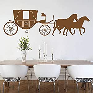 Walliv Decals Two Horses With Wagon [culture & Heritage, Hg37]