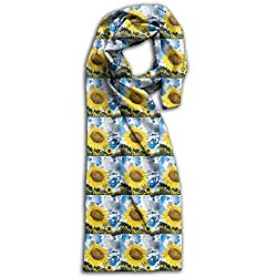 Sunflower Cute Floral Winter Light Scarf Print Soft Warm Towel New Style Scarves Best Gift