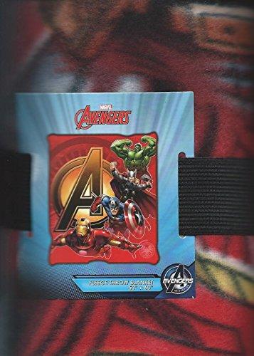 "Marvel Comics the Avengers Fleece Throw Blanket 50"" x 60"" Inches"