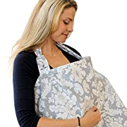 Qunqi Star Breast Feeding Nursing Cover (Gray)