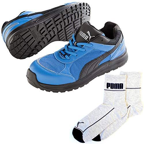 PUMA(プーマ) 安全靴 スプリント 25.0cm ブルー ジャパンモデル PUMA ソックス 靴下付セット 64.330.0  B07QM3XR5H