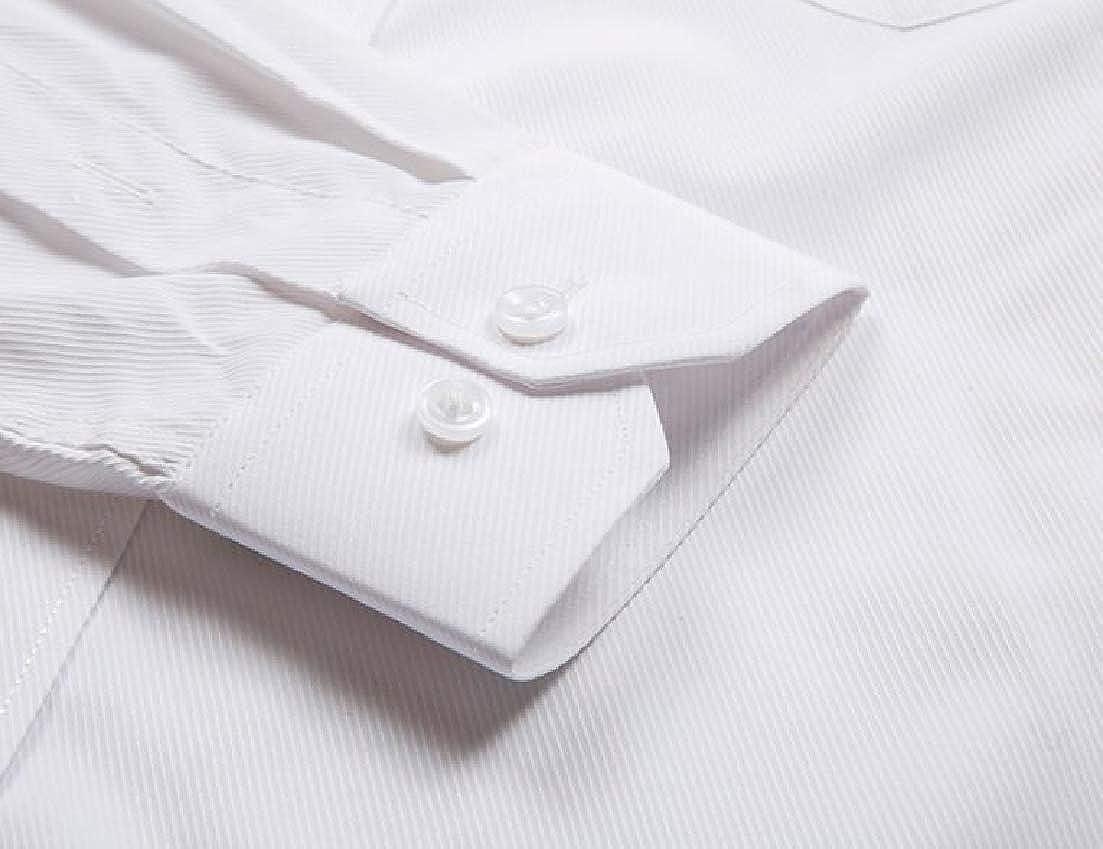 X-Future Men Long Sleeve Regular Fit Twill Oversized Boyfriend Button up Shirts