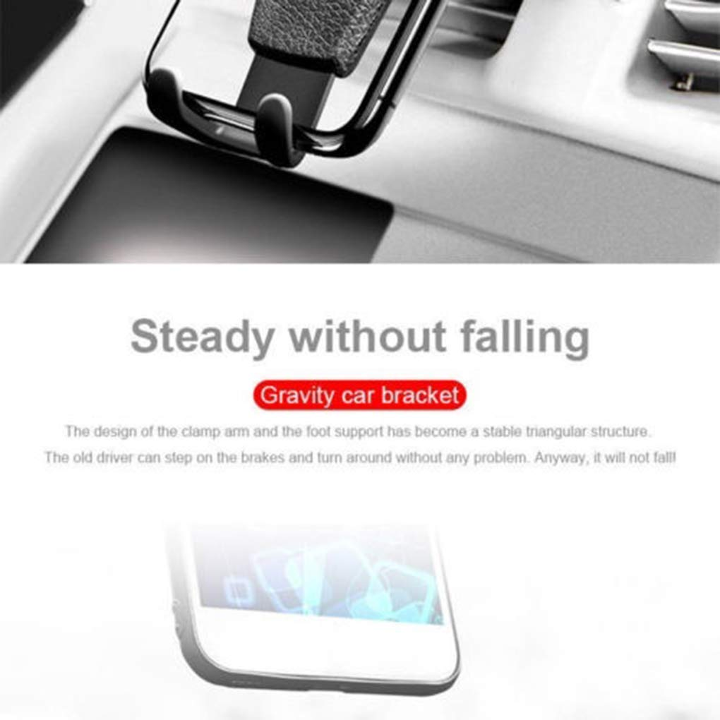 Gravity Car Air Vent Mount Adjustable Mobile Phone Holder Cellphone ABS Stand Non-slip Tight Cradle fgyhty