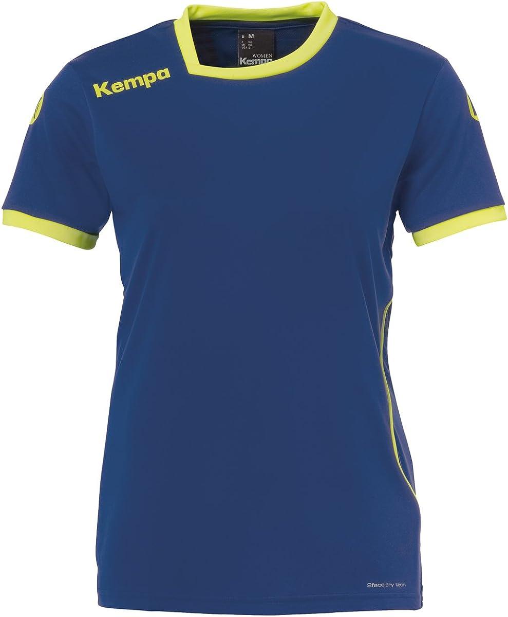 deep blau//Fluo gelb Kempa Damen Curve Trikot L