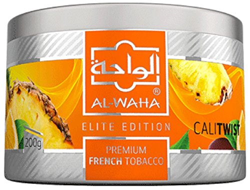 Al Waha Elite Edition Shisha Molasses Premium Flavors 200g for Hookah (CALI Twist)