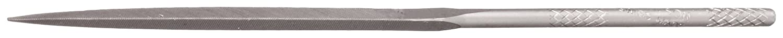 Swiss Pattern #2 Coarseness Nicholson Needle File with Handle Single Cut Triangular 4 Length 4 Length 37228