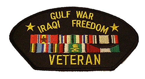 GULF WAR VETERAN IRAQI FREEDOM with 6 SERVICE RIBBONS PATCH - Great Color - Veteran Owned -