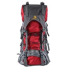 Mountaintop 60L Nylon Hiking Backpack,Businda Camping Daypack Traveling Picnic Waterproof Bag for Women Men