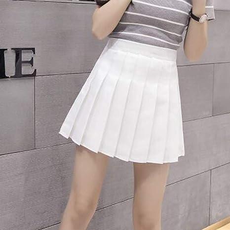 HEHEAB Falda,XS-XXL Blanco Moda Mujer Verano Cintura Alta Falda ...