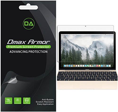 3-Pack-Dmax-Armor-New-MacBook-12-inch-2015-Version-Screen-Protector-Anti-Bubble-High-Definition-Clear-Shield-Lifetime-Replacements-Warranty-Retail-Packaging