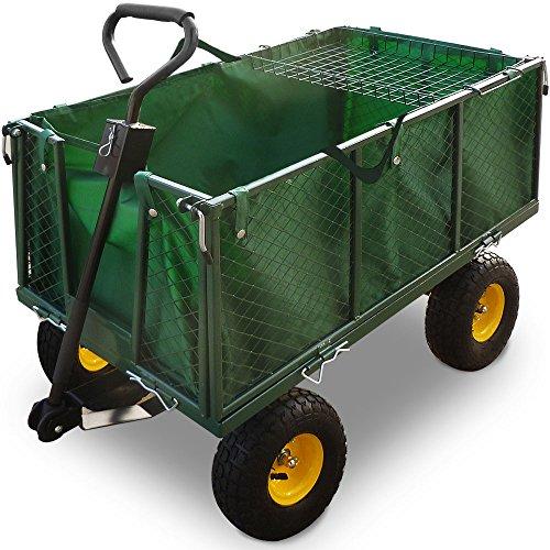 Transportwagen Bollerwagen mit herausnehmbarer Plane 544kg - Handwagen Transportkarre Gartenkarre Gartenwagen