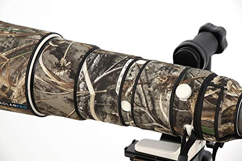 ROLANPRO Nylon Waterproof Lens Camouflage Rain Cover for Sony FE 200-600mm F5.6-6.3 G OSS Lens Protective Case Guns Clothing by Rolanpro