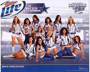 2011 Dallas Cowboys Rhythm & Blue Dance Team Miller Lite 8X10 Photo Cheerleaders