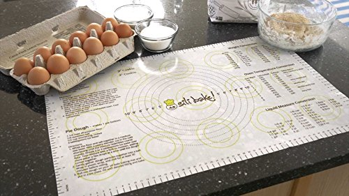 The Original SILIBAKE Silicone Pastry Baking Mat with Measurements. Finally a Baking Mat that Really Works. Exclusively Designed in the USA.