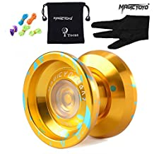 Original Magicyoyo K9 Top Refers to the King Unresponsive Yoyo Set, Alloy, Professional Toy, Golden with Blue