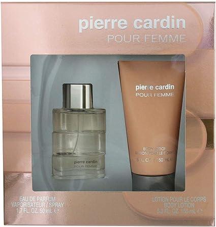 Pierre Cardin Pour Femme Estuche de agua de perfume de 50 ml + leche corporal de 150 ml: Amazon.es: Belleza