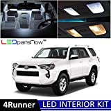 LEDpartsNow 2003-2018 Toyota 4Runner LED Interior Lights Accessories Replacement Package Kit (18 Pieces), WHITE