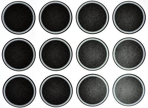 Firefly Craft Chalkboard Labels for Spice Jars and Organizing, Large Circle 60 (Spice Board)