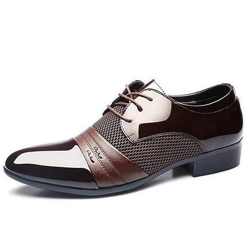 Scarpe Eleganti da Uomo Moda Uomo Scarpe da Sposa Scarpe Comode Scarpe da  Banchetto da Uomo 7a8bd91dec3