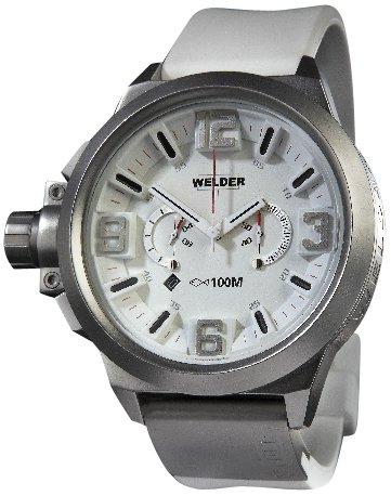 Welder K22 900 - Reloj cronógrafo de caballero de cuarzo con correa de goma negra