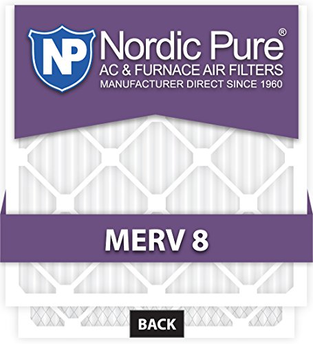 12x25x1 MERV 8 Plus Carbon AC Furnace Filters Qty 6