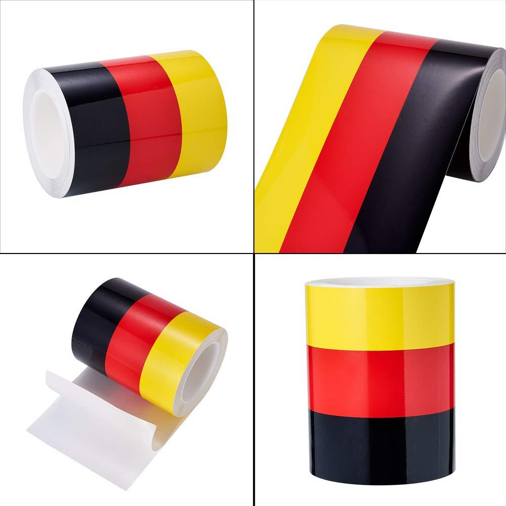 ATMOMO Vinyl Racing Stripe Decal Sticker for Car Hood Decal Decoration Fender Stripes Hash Marks 15CMx1M Yellow Red Black