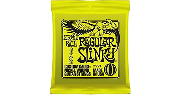 Amazon.com: CUERDAS GUITARRA ELECTRICA - Ernie Ball (2221) Slinky ...