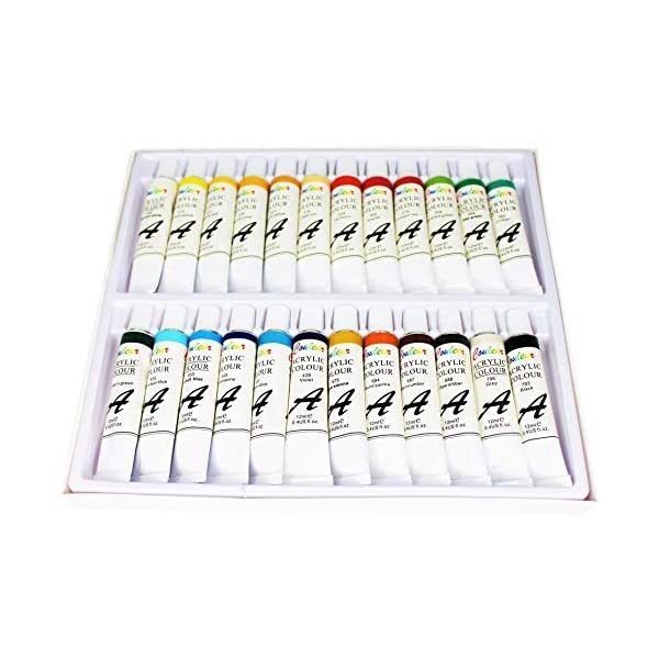 Acrylic-Paint-Set-24-Tubes-Craft-Paint-Kit-for-Canvas-Wood-Ceramic-Fabric-for-Kids-and-Adults-Beginners-and-Professionals-12ml-Per-Tube