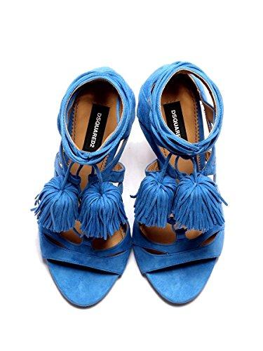Sandales cuir pour bleues Dsquared2 en femmes HSW0038102000013072 Evdxwn6xaq